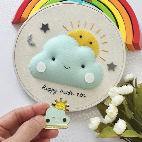 Happy Cloud Sun | Be Happy Be You Enamel Pin