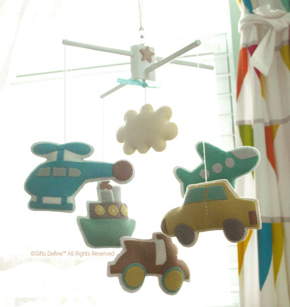 Bon Voyage Travel Inspired Baby Mobile Decor