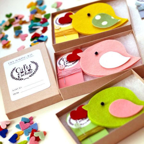 DIY Create your Own Valentine's Day Bird keepsake