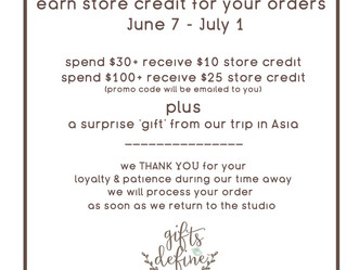 Earn Store Credit for Your Purchase in June!