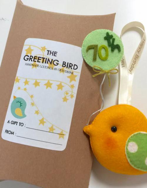 Happy Birthday - Greeting Bird, Unique Personalized Birthday Gift