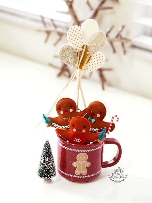 Felt Gingerbread Friend Holiday Keepsake for Family, Baby, Friends and Teachers