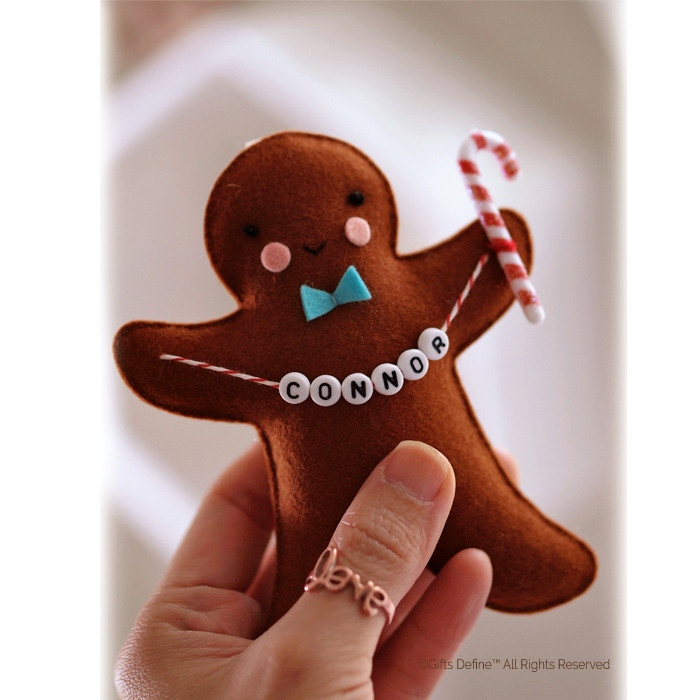 Personalized Gingerbread Holiday Gift for boys and girls