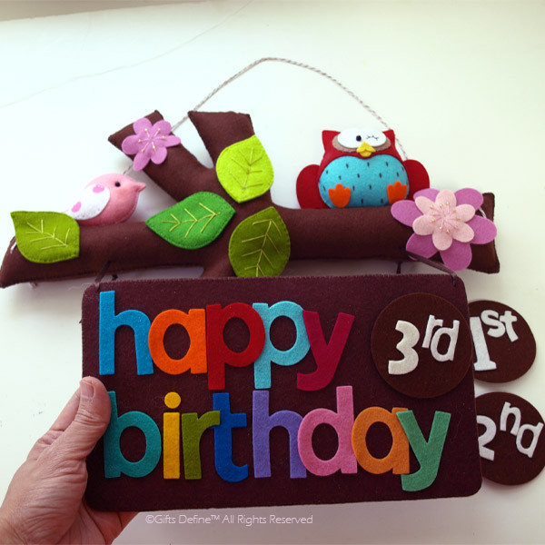 Happy Birthday Tree Story with interchangeable number pins