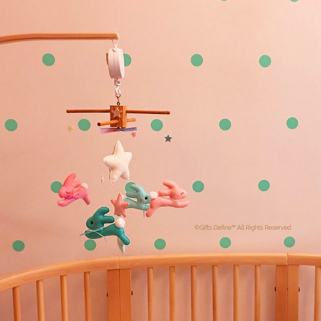 Wishing Upon the Stars, bunnies theme luxe baby mobile