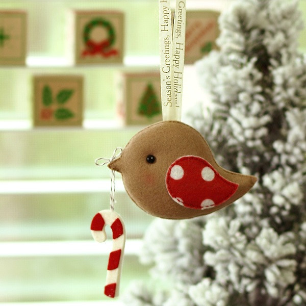 Season's Greetings Happy Holiday Greeting Birds Holiday Ornament or Keepsake