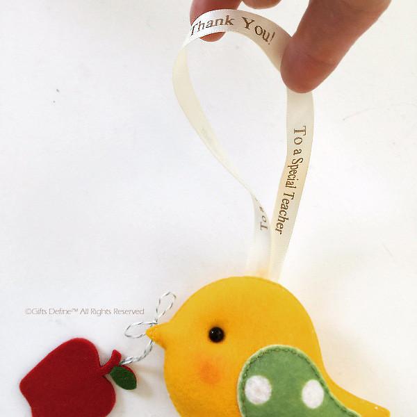 Thank You Teacher, Greeting Bird, Unique gift keepsake for teachers