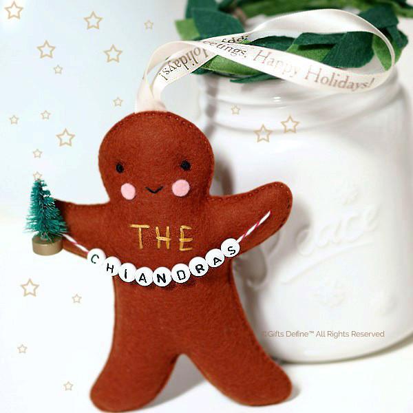Family Gingerbread Personalized Holiday Keepsake