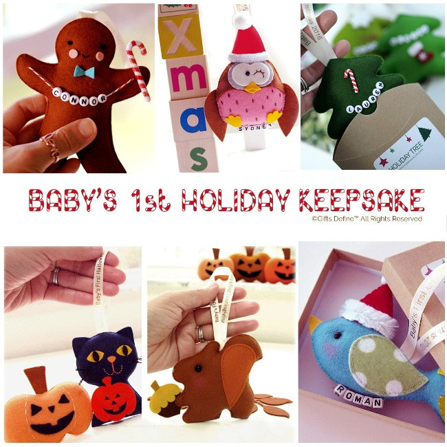 Baby First Christmas Holiday keepsake