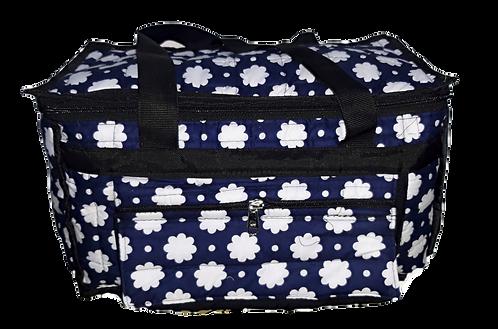 Flower Printed Blue Color Picnic Bag