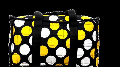 Dot Printed Yellow Colour Picnic Bag
