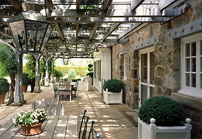 A Norman Carriage House Trellis at the m