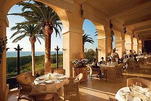 Dining portico at the Andrea restaurant.