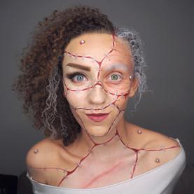 Bride of Frankenstein inspired makeup