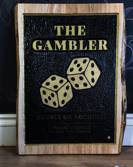 Wooden Gambler Sign - KPD