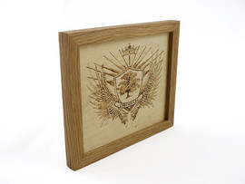 Cyncoed LFC Pyrography Art - KPD Designer Maker
