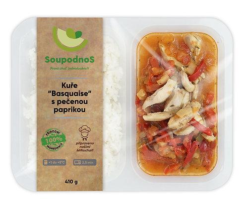 """Kuře """"Basquaise"""" s pečenou paprikou, s jasmínovou rýží. 410g"""