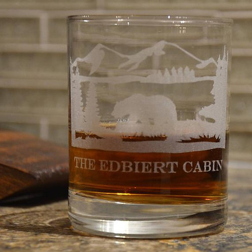 Create Your Own Double Rocks Etched Whiskey Rocks  | Etched Rocks/ Double Old Fa