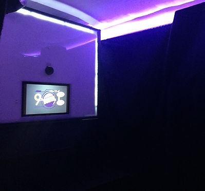 A sleek modern photo booth