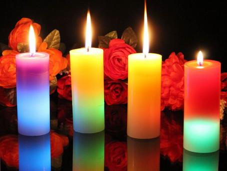Les couleurs des bougies