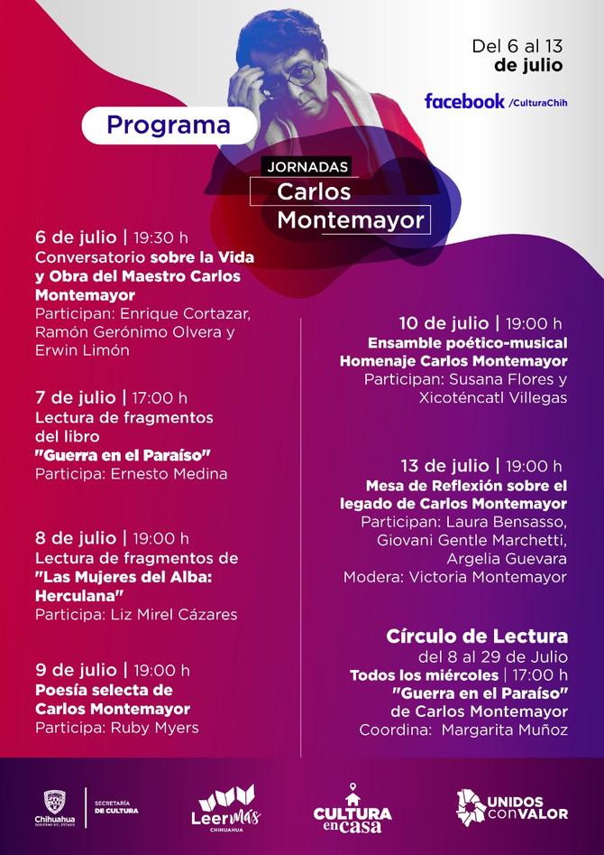 Programa de las Jornadas Virtuales Carlos Montemayor 2020