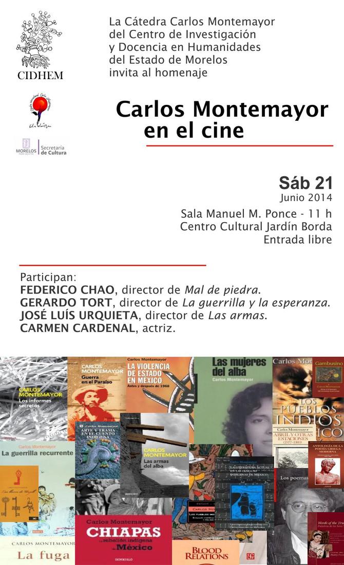 Homenaje a Carlos Montemayor el 21 de junio en Cuernavaca, Morelos