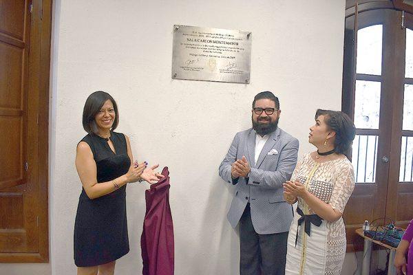 Inauguraron la sala Carlos Montemayor