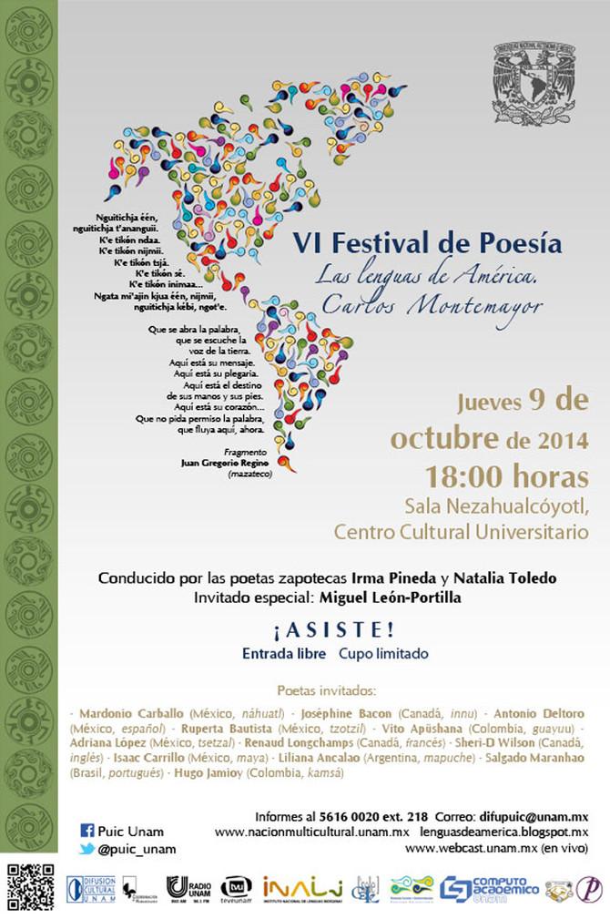 VI Festival de Poesía:Las lenguas de América, Carlos Montemayor