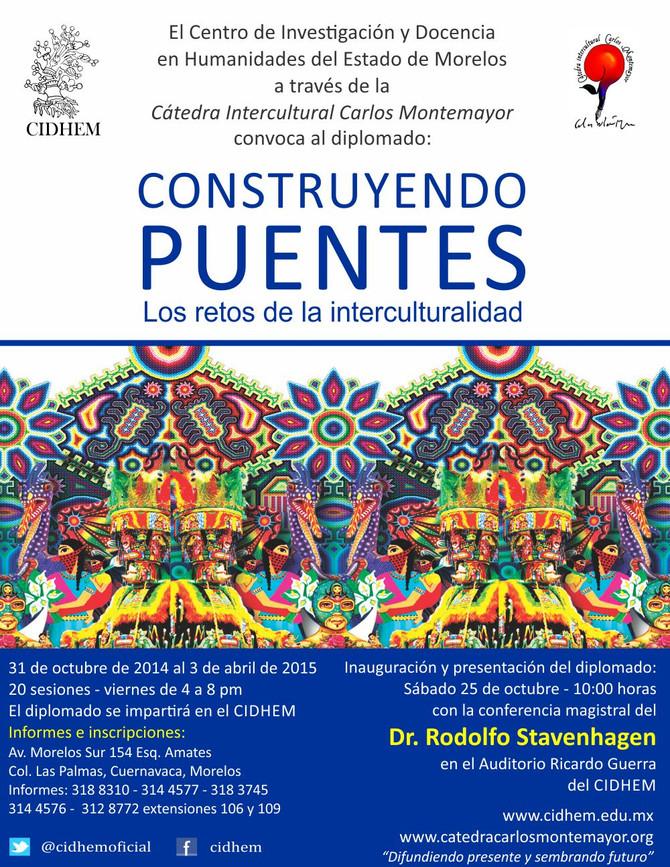 """Inscripciones abiertas en Cuernavaca: Diplomado """"Construyendo Puentes: Los Retos de la Intercultural"""