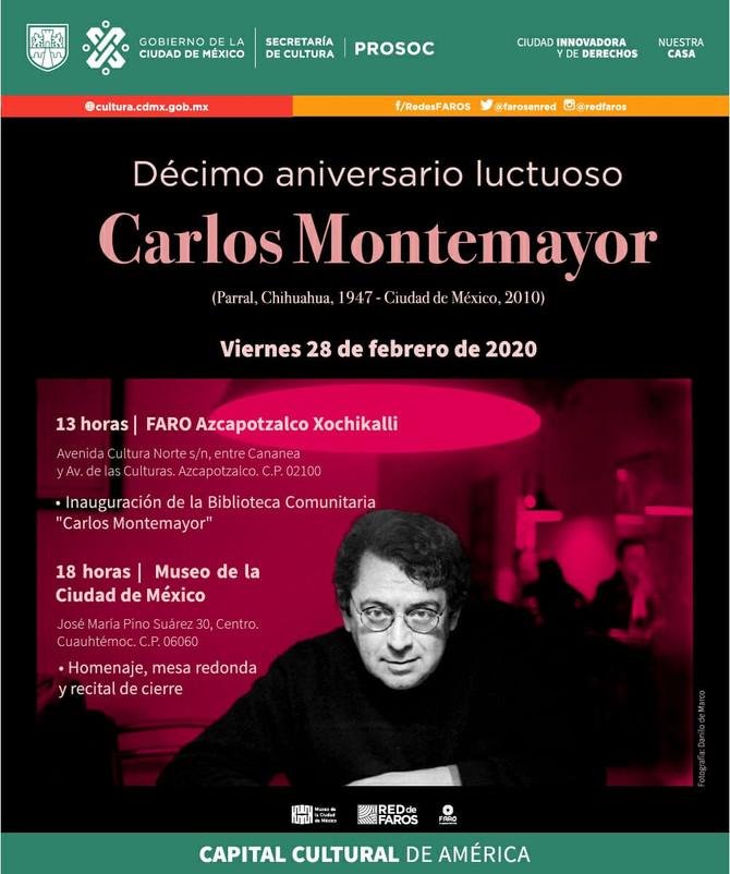 """Inauguración de la Biblioteca Comunitaria """"Carlos Montemayor"""": Faro Azcapotzalco"""