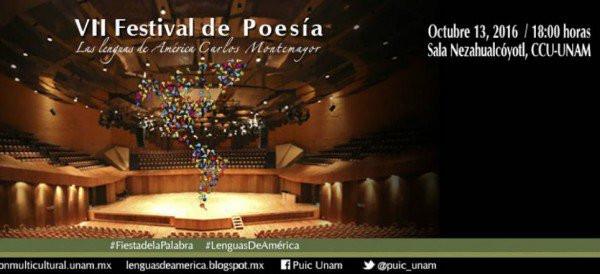 VII Festival de poesía Las Lenguas de América Carlos Montemayor