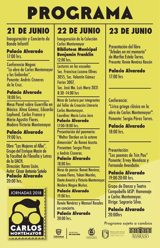 Actividades Jornadas Carlos Montemayor