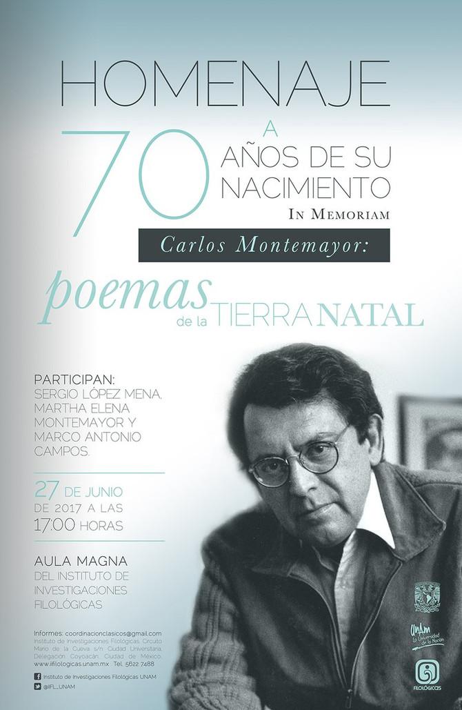 Poemas de la Tierra Natal: Homenaje a Carlos Montemayor, Aula Magna, Instituto de Investigaciones Fi