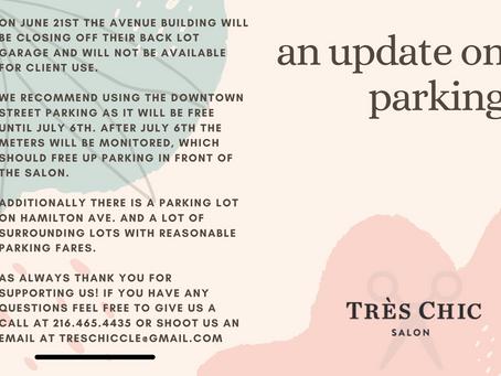 update on parking (6.18.21)