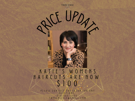 Update on Pricing: Katie's Women's Haircuts