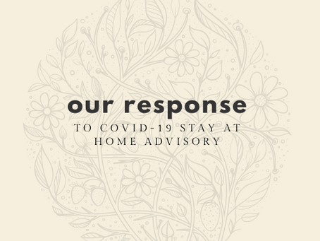 Response to Stay-At-Home Advisory 11.20.20