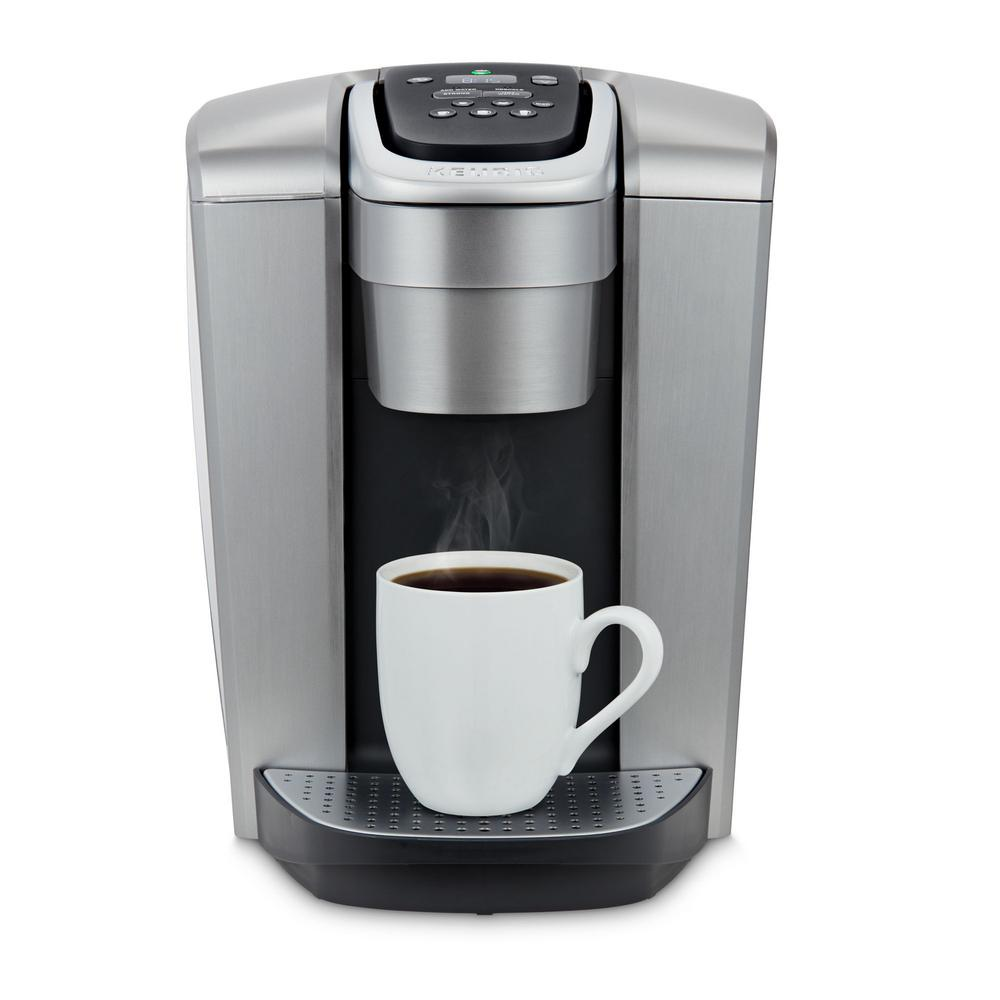 brushed-silver-keurig-single-serve-coffe