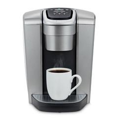 brushed-silver-keurig-single-serve-coffe