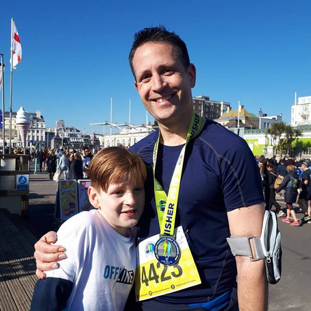 Not a musical post but I did the Brighton half marathon last week. I can just about walk again now.