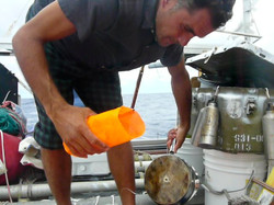 Week 7 - Marcus trawling for plastic