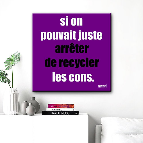 Recyclage Cons