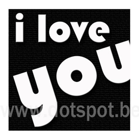 I Love You Black