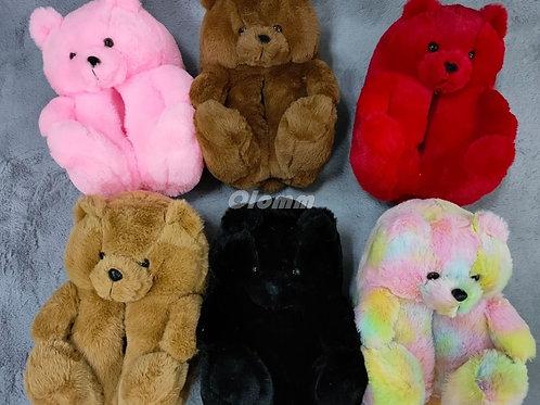 Plush Teddy Bear House Slippers