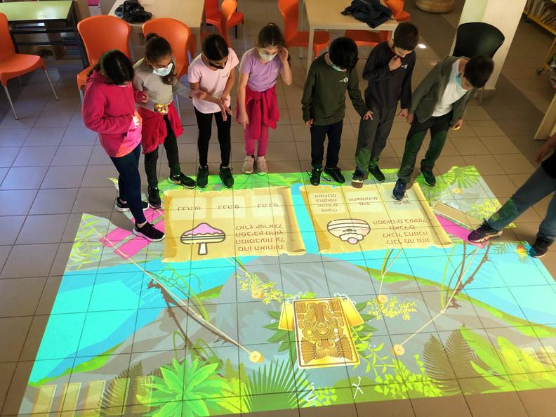 למידה אינטראקטיבית בשילוב משחק ותנועה