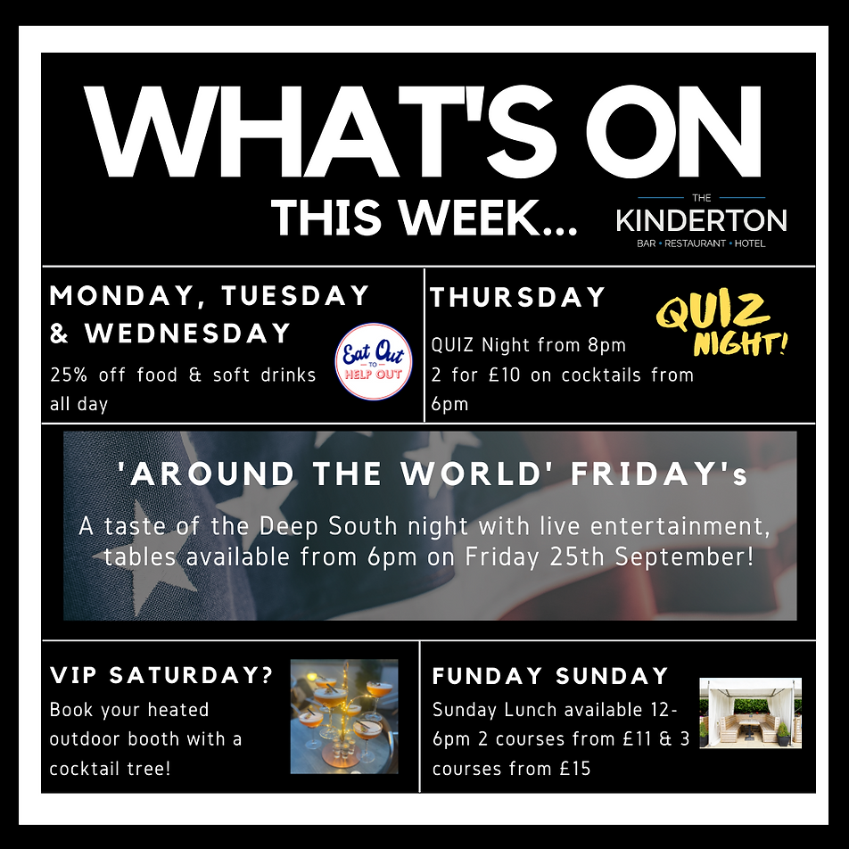Whats on this week 14.09.2020 instagram