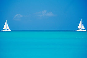ocean with blue sky in Key West