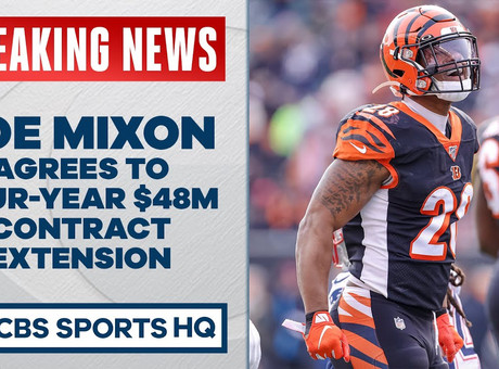 Bengals, Joe Mixon agree to four-year, $48 million contract extension, per report