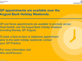Bank Holiday GP Appointments!