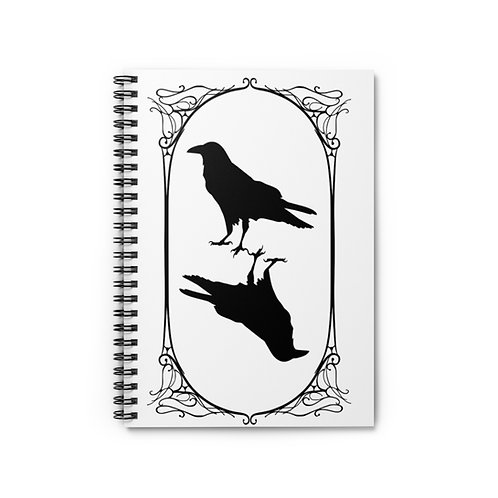Poe Tarot Raven Spiral Lined Journal