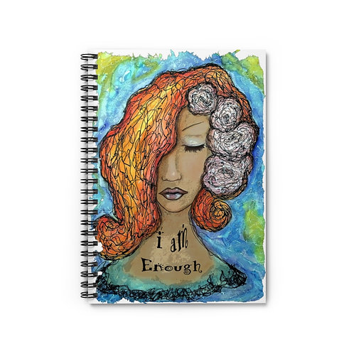 I am Enough Spiral Lined Journal